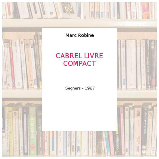 Cabrel. Livre-compact - Photo 0