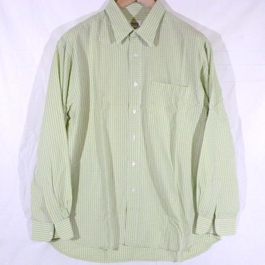 Chemise Yves Saint Laurent T43 verte claire 100% coton - Photo 0
