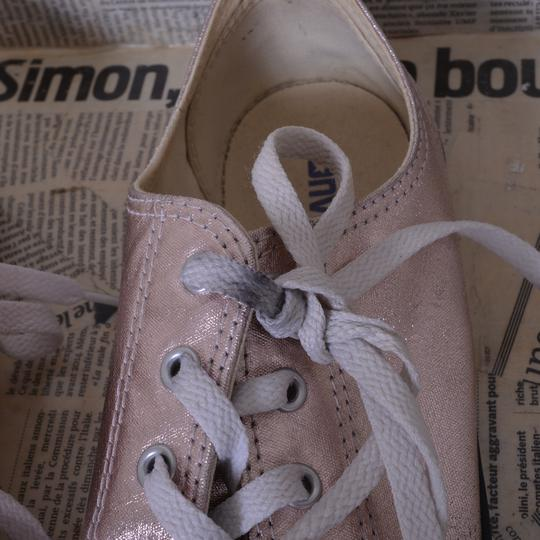 Baskets basses Converse rose pailleté Femme T39