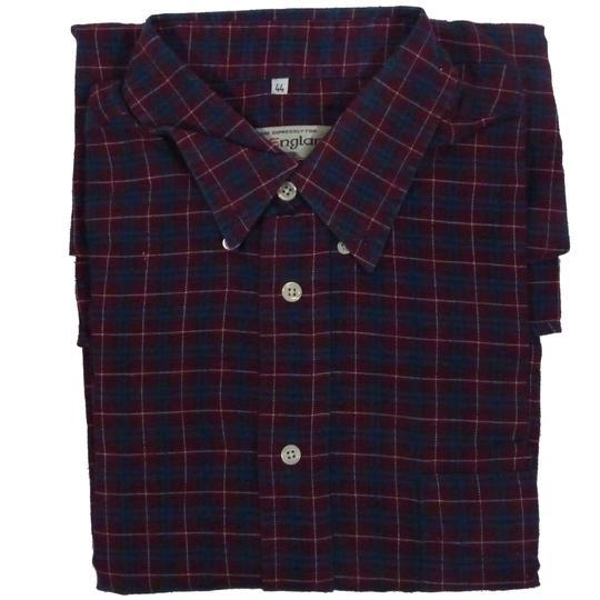 2ee8b810fbf Chemise Old England à carreaux rouge et bleue T 44 100% coton - Photo ...