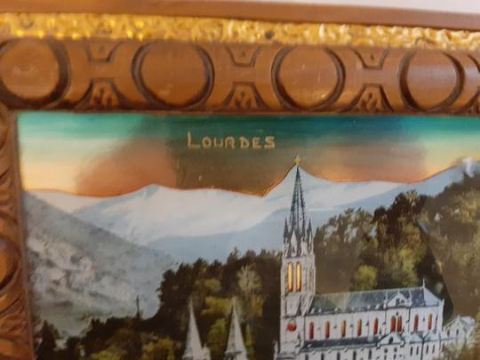 DESSOUS DE PLAT MUSICAL SOUVENIR LOURDES  - Photo 2