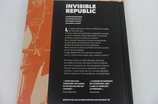 BD Invisible Republic Tome 1 de Hardman & Bechko éditions Hi-Comics - Photo 2