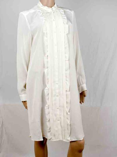 Robe Chemise Crepe De Chine Cacharel T 38 Label Emmaus