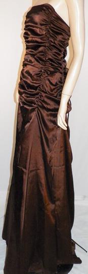 Robe Longue Bustier De Soiree Chocolat Satine Juju Christine T5 Label Emmaus