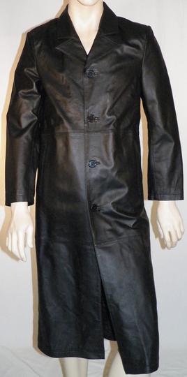 Veste longue en cuir
