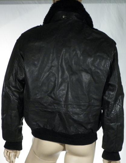 Sur Aviateur Emmaüs Blouson Noir L Label Cuir Homme Boutique Taille r8Yqrw5