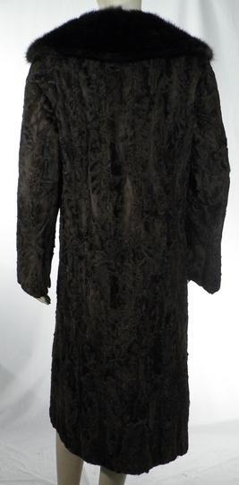 New York vente la plus chaude achats Manteau Long Femme Fourrure Astrakan Col Vison T40/42