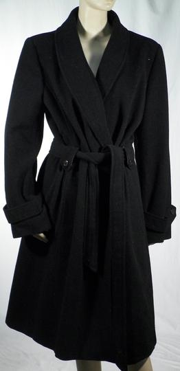 Manteau Femme Long Noir CAROLL T46 sur Label Emmaüs, boutique en ... 5995b0fe2055