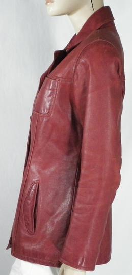 Veste Femme Cuir de Buffle Rouge Hermès OAKWOOD Taille M