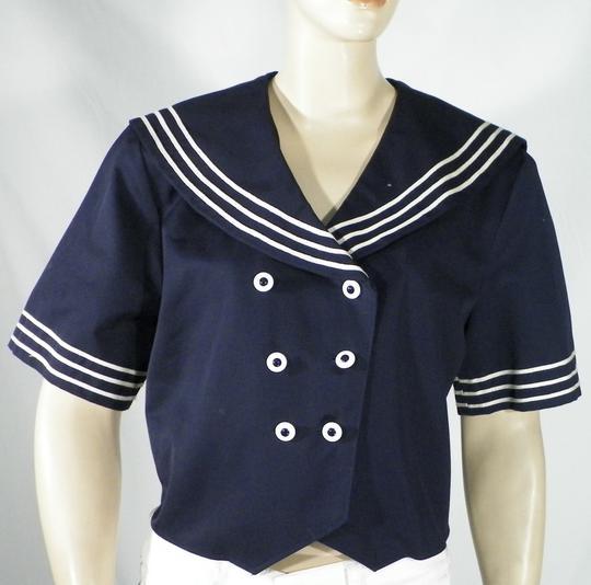 économiser 4a5bc f0510 Veste Femme Bleu Vintage style Marin T42