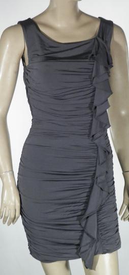 Robe mi-longue à bretelles Gris Brillant H M Taille S sur Label ... 0e6d1be9b62