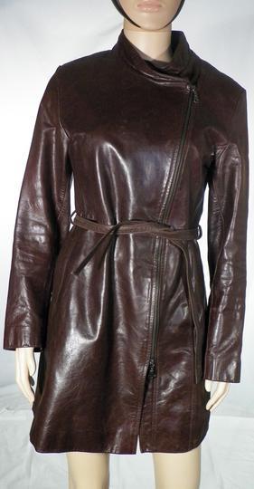 2cc207fb8a Veste Femme Cuir Marron SERGE PARIENTE Taille XL sur Label Emmaüs ...