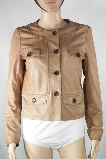 Veste Cuir Camel CAROLL Taille 38. sur Label Emmaüs, boutique en ... dd8b9b95c11d