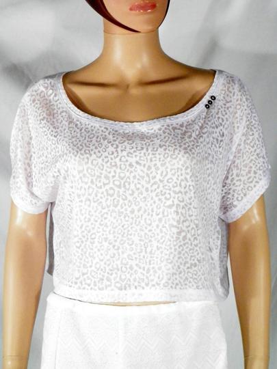 Crop Top Femme Blanc DDP T M.