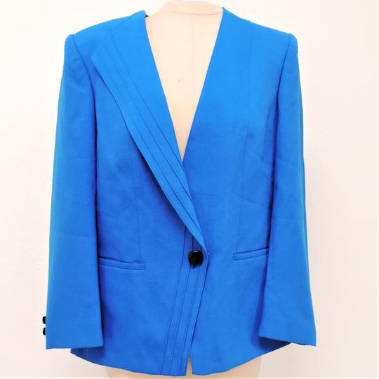 Veste blazer veste avec viscose bleu roi taille 42