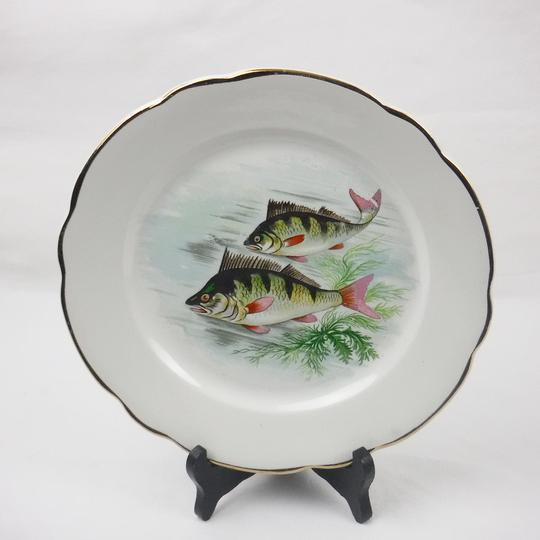 Lot de 11 assiettes plates Digoin Sarreguemines décor poisson - Photo 3