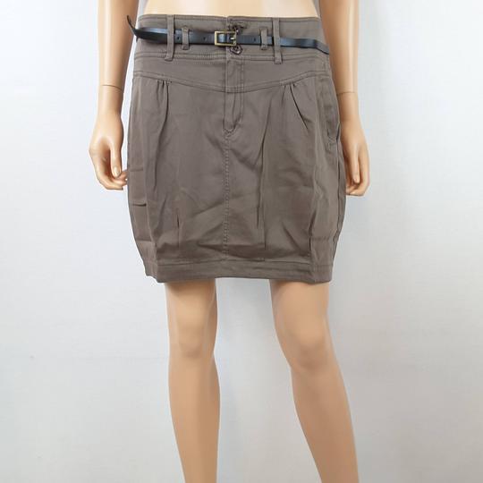 Jupe taupe ornée d une ceinture noire pour femme de la marque CACHE CACHE  RTTSDS181851 ... 294ca8a1cd4