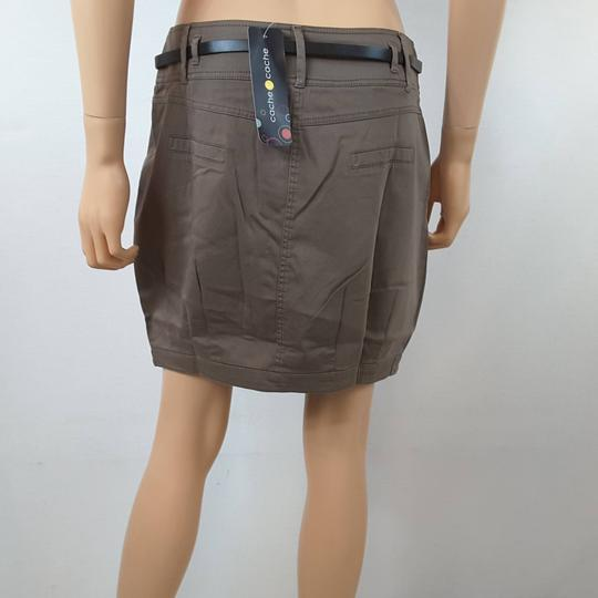 ... Jupe taupe ornée d une ceinture noire pour femme de la marque CACHE  CACHE RTTSDS181851 ... be54c49d76e