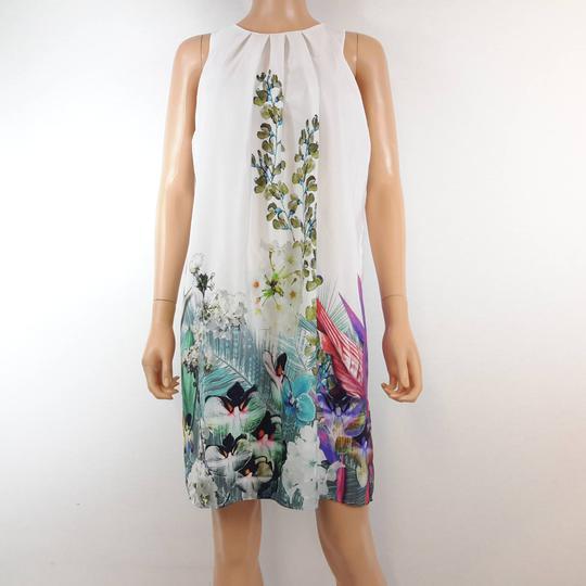 Rttsds201887 Robe Coupe De Floraux Pour Sans Femme Manches Droite La Marque Etam Motifs mvN8n0wO