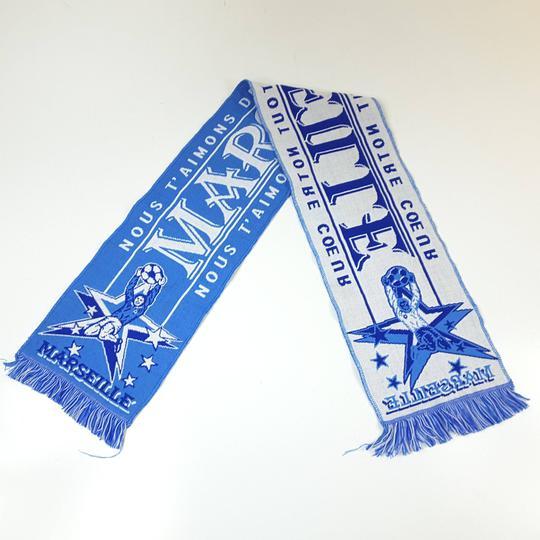 Écharpe de l Olympique de Marseille bicolore RTTSDS241899 sur Label ... 5ba460a4131