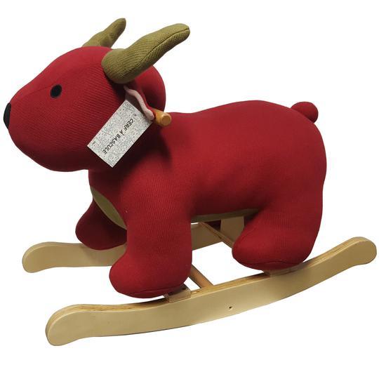 Neuf & étiquette Cerf jouet à bascule bois