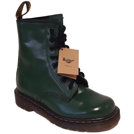 Neuf   étiquette Dr Martens P 36 Chaussure bottine en cuir vert - Photo ... cffe9fc8eaea