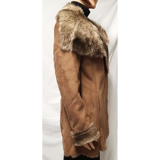 Manteau femme peau retournee synthetique