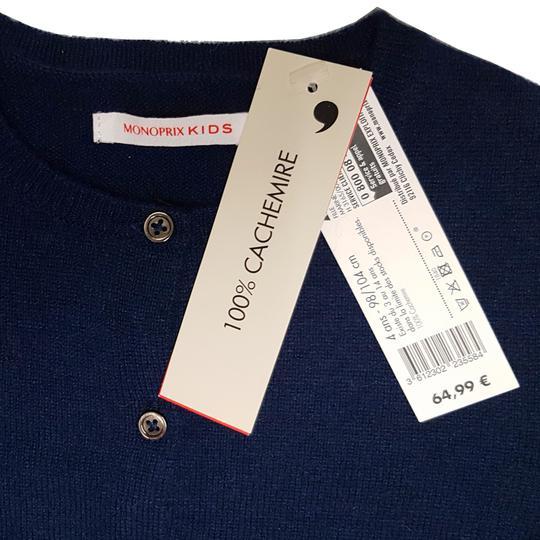 Neuf   étiquette Veste gilet Monoprix 100% cachemire bleu marine 4 ans -  Photo ... 01cc1c3fc35