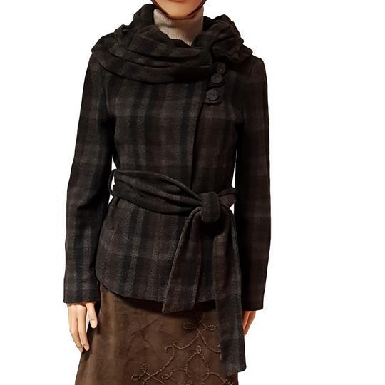 7b55ae60215c Veste paletot manteau court Zara en lainage à carreaux T L - Photo ...