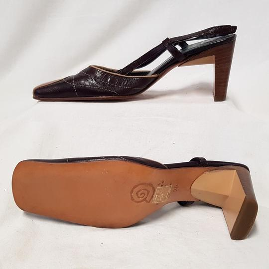 Sandale Ursula Mascaro chaussure bicolore en cuir marron P 36  - Photo 2