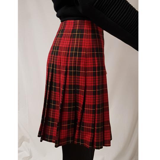 f7f06b72341 ... Jupe plissée écossaise 1.2.3 à carreaux jupe portefeuille vintage T 38  - Photo 4