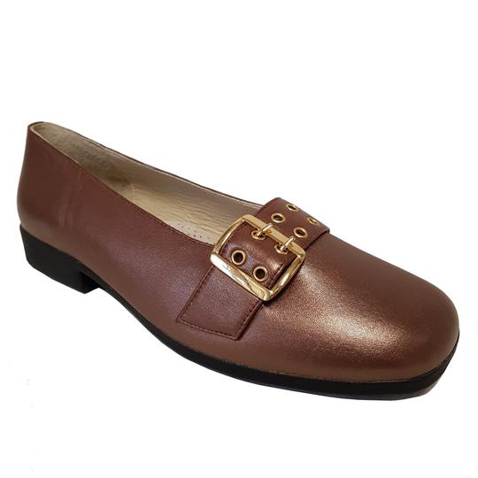Chaussure ballerine Pediconfort P 44 en cuir marron irisé   - Photo 0