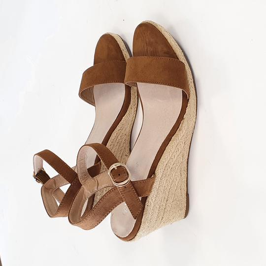 Sandales compensées (neuves) - caramel - Blanche porte - 40 - Photo 0