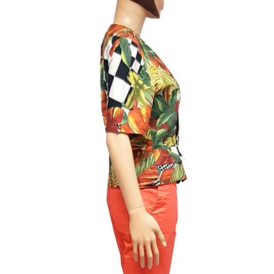 Top style veste blazer femme vintage motif tropical T.1 - Photo 2