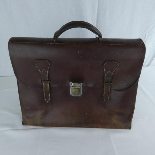 braderie officiel beaucoup de styles Cartable en cuir vintage.
