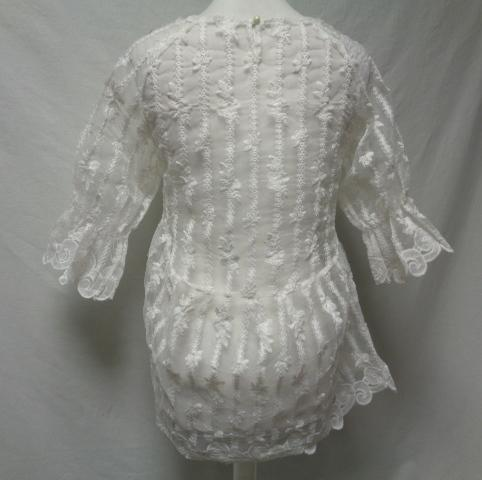Top transparent blanc en dentelle - taille 38 - Photo 2