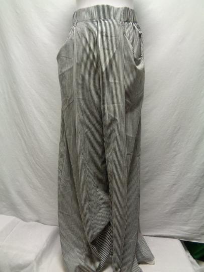 fb0343ed63aad Pantalon taille haute rayé blanc/noir - Zara - taille S - Photo 0 ...