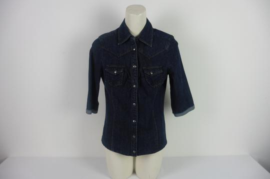 Chemise en jean denim authentique Femme Made with love taille 40 - Photo 0
