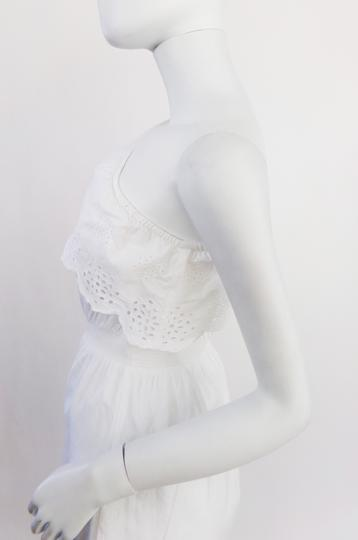 Robe  blanche oneshoulder avec dentelle anglaise  - 36 - PIMKIE - Photo 4