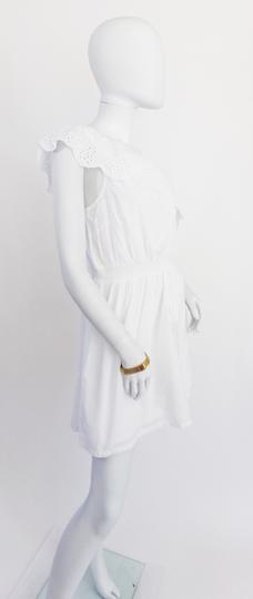 Robe  blanche oneshoulder avec dentelle anglaise  - 36 - PIMKIE - Photo 2