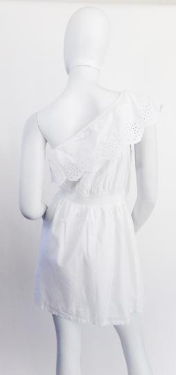 Robe  blanche oneshoulder avec dentelle anglaise  - 36 - PIMKIE - Photo 1