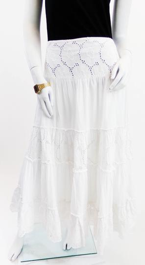 ed2c7ae3032004 Jupe bohème blanche à broderie anglaise - 46 - CAROLL