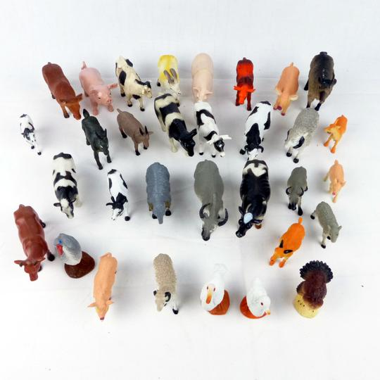 Lot de 6 ANIMAUX FERME lot jeu jouet figurines en plastique pour enfants