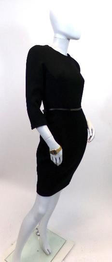 Robe noire épaisse avec fine ceinture M MANGO