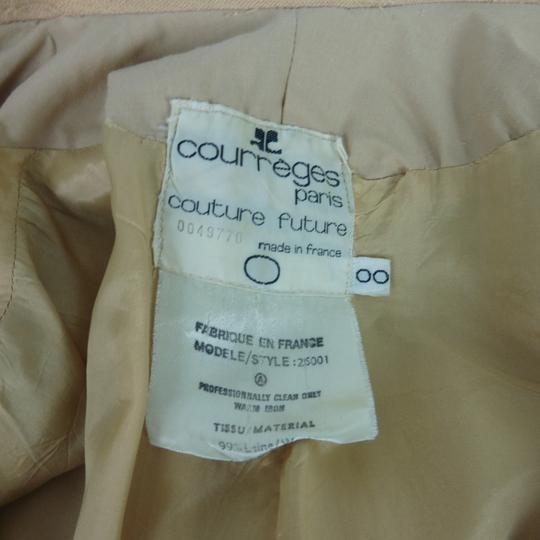 Manteau Courrèges Chic Vintage 1970 Beige taille O - Photo 5