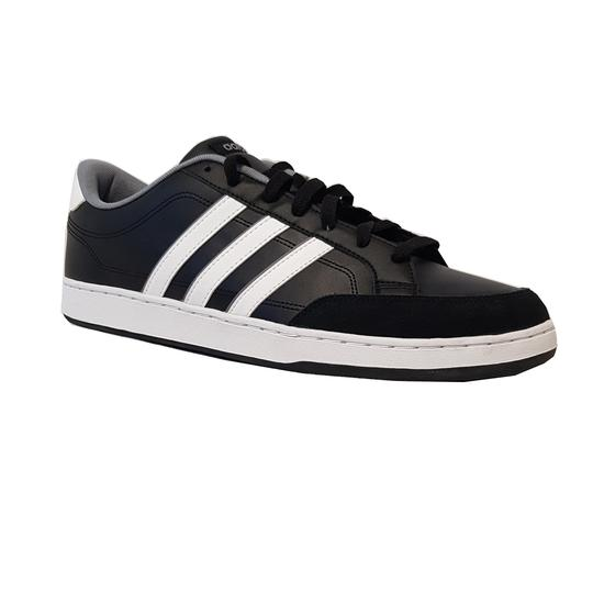 Baskets sneakers Adidas Neo cuir noir homme P.48