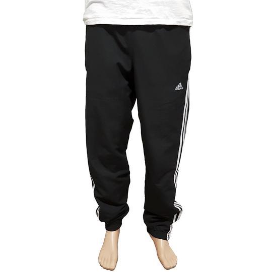 Bas de Survêtement sport Adidas noir aux trois bandes blanches T.S