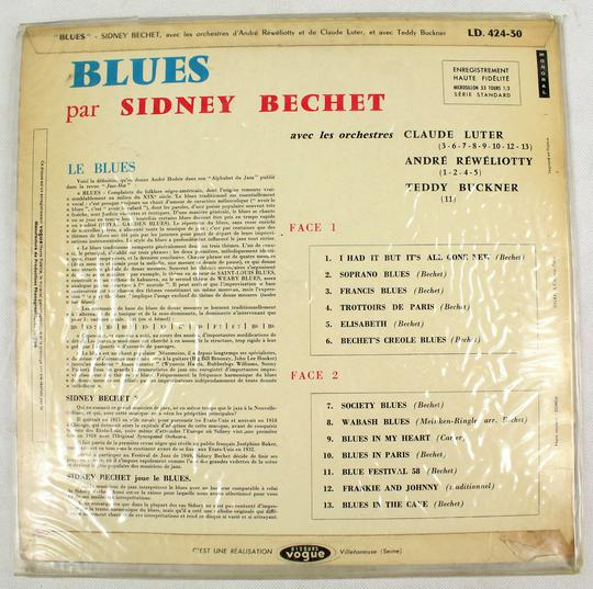 Sidney Bechet - Blues (Disques Vogue, France). - Photo 1