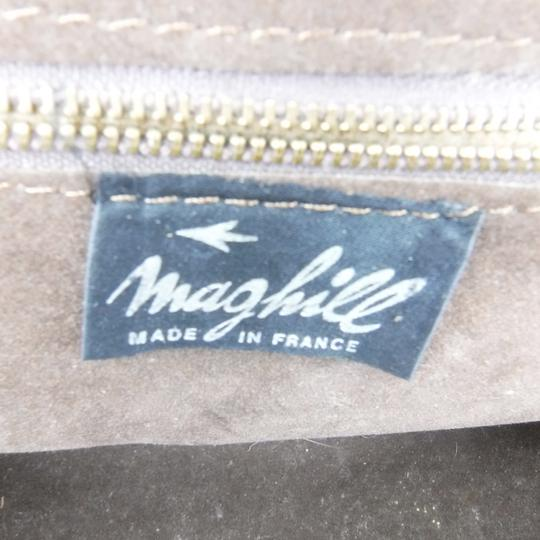 Ancien sac bandoulière / à mains marron marque Maghill Made in France - Photo 4