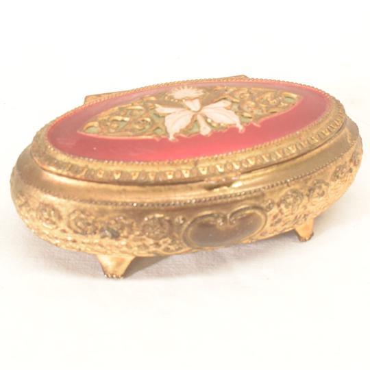 boite a bijoux ancienne metal doré